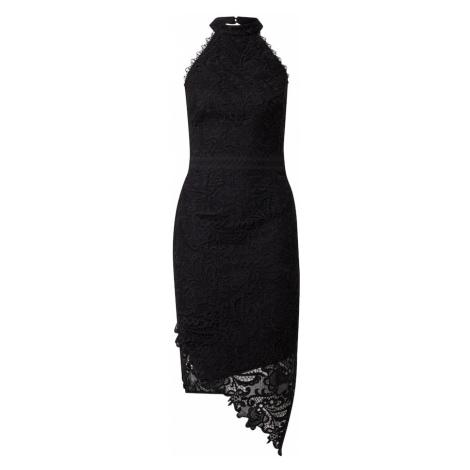 Lipsy Kokteilové šaty  čierna