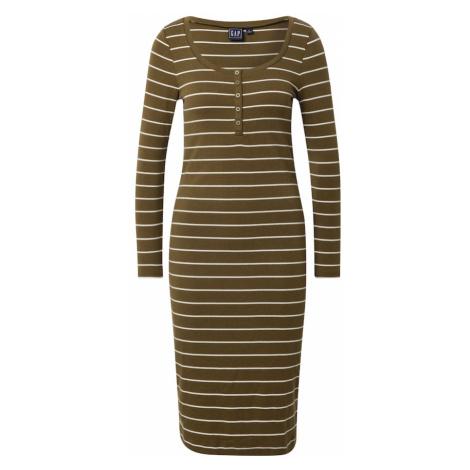 GAP Puzdrové šaty  olivová / biela