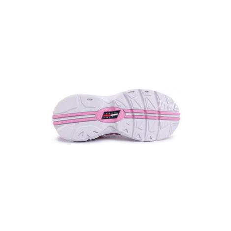 Tommy Jeans Sneakersy Heritage Retro Sneaker EN0EN0776 Ružová