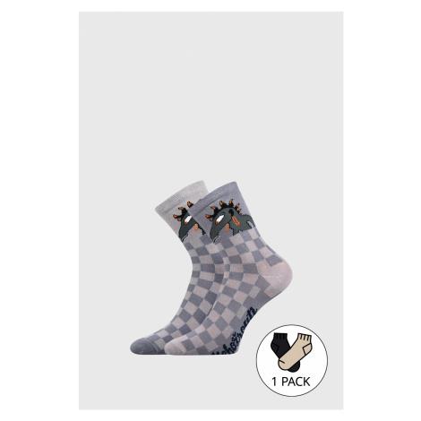 Detské ponožky Lichožrúti Kudla šedá Boma