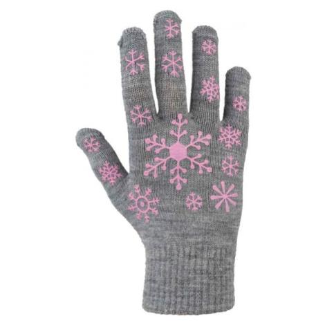Lewro ARIADNA šedá - Detské pletené rukavice