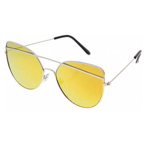 Slnečné letecké okuliare Giant strieborné rámy žlté sklá