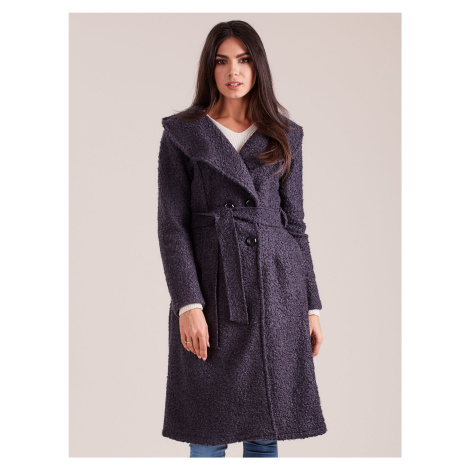 Kabát tmavosivej farby