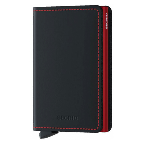 Secrid Slimwallet Matte Black & Red-One size čierne SM-Black-Red -One size