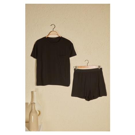 Trendyol Khaki Knitted Pyjamas Kit Black