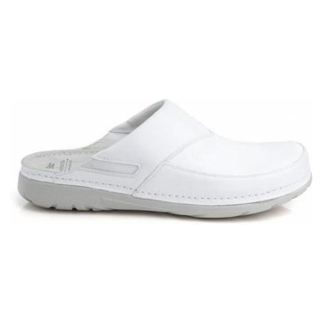 Pánske biele zdravotné šľapky PETER Batz
