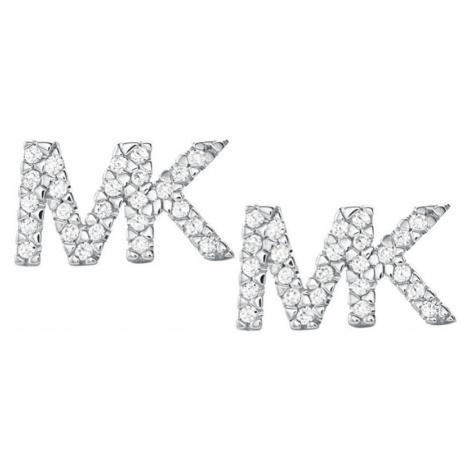 Michael Kors Strieborné náušnice s logom MKC1256AN040