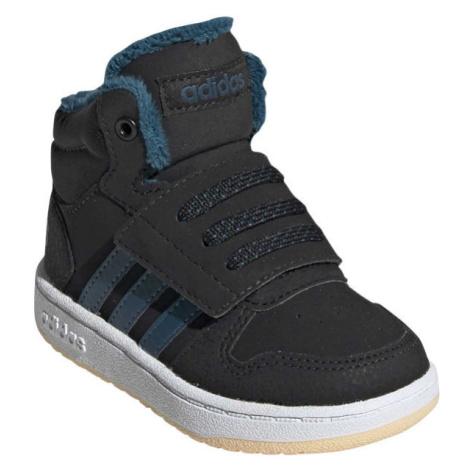 adidas HOOPS MID 2.0 I čierna - Detská voľnočasová obuv