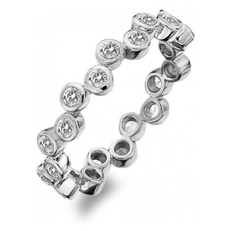 Hot Diamonds Luxusný strieborný prsteň s TOPAZ Willow DR208 mm