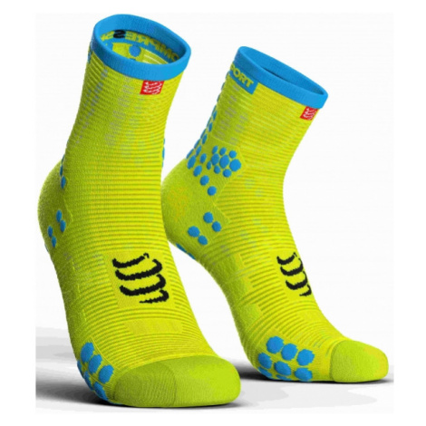 Compressport RACE V3.0 RUN HI žltá - Bežecké ponožky