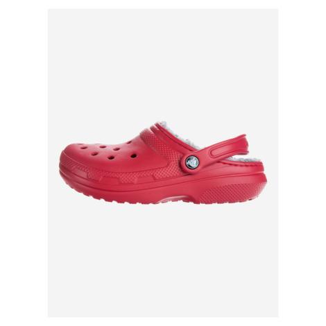 Classic Fuzz Lined Clog Crocs Crocs Červená