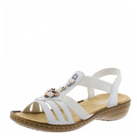 Rieker sandále QR952229010 biela - 36