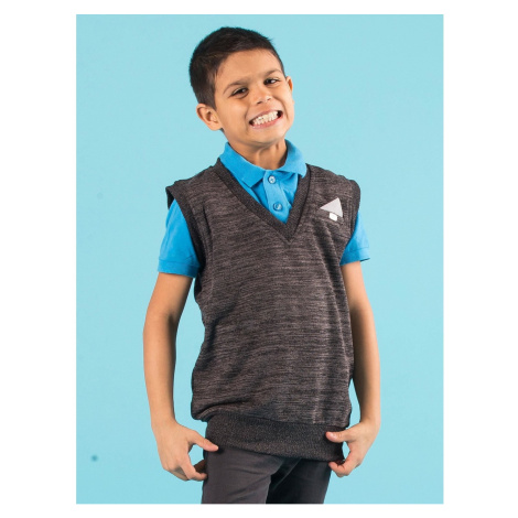Graphite boy´s knitted vest