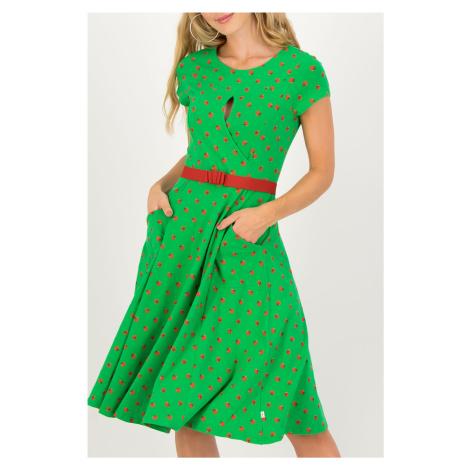 Zelené áčkové šaty Blutsgeschwister Ketchup Party