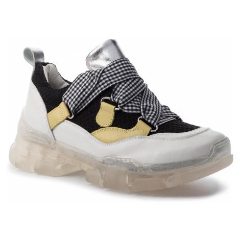 Sneakersy HEGO'S MILANO - 1103 Bianco/Nero
