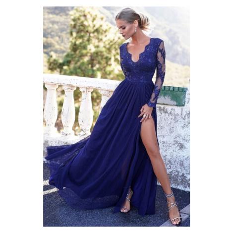 Tmavomodré šaty Adel