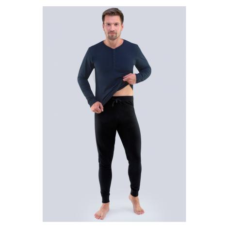 Modro-čierne pyžamo Gabriel
