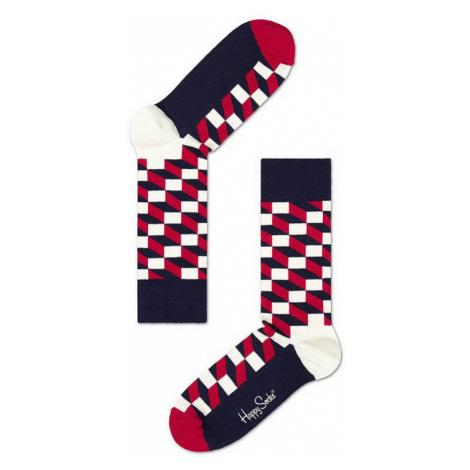 Happy Socks Filled Optic-M-L (41-46) čierne FO01-068-M-L (41-46)