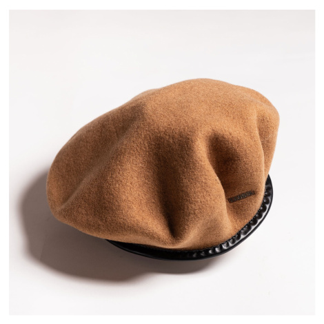 Hnedá vlnená baretka Monty Wool Beret Kangol