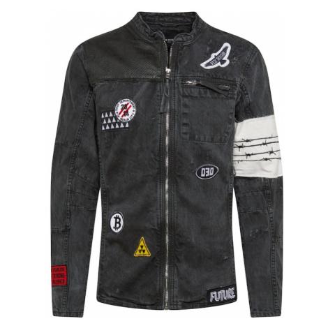 BE EDGY Prechodná bunda 'Be Arthur D'  červená / čierna / biela