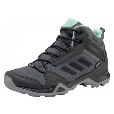 ADIDAS PERFORMANCE Športová obuv 'Terrex AX3 MID GTX'  čadičová / pastelovo zelená / sivá