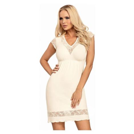 Luxusná dámska nočná košeľa Dafne vanilka Donna