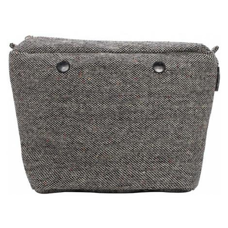 Obag vnútorná taška vlna puntinato sivá / čierna O bag