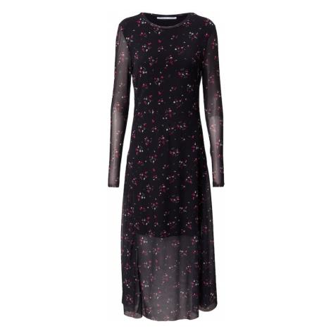 CATWALK JUNKIE Šaty  čierna / tmavoružová / biela / tmavozelená