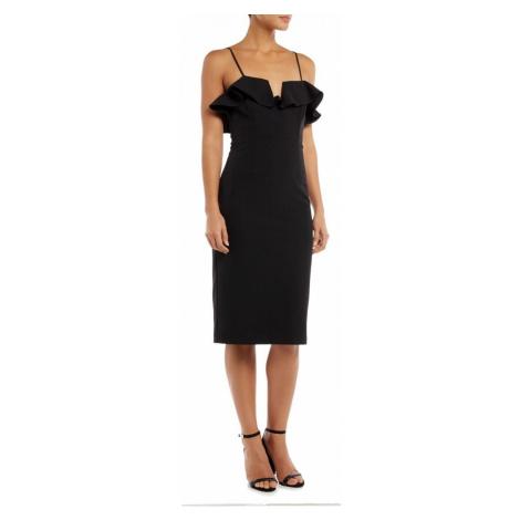Bardot Snake print off shoulders dress Black