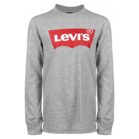 LEVI'S Tričko  sivá melírovaná / červená / biela Levi´s