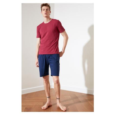 Trendyol Burgundy Knitted Pyjama Set