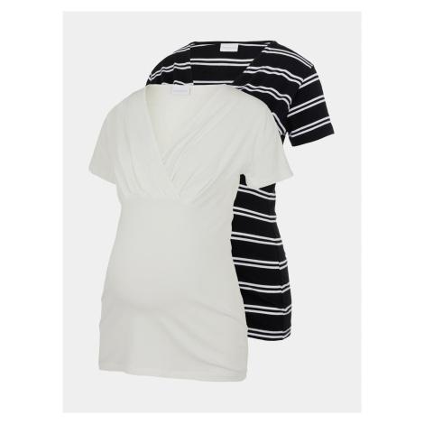 Sada dvoch tehotenských/dojčiacich tričiek v čiernej a bielej farbe Mama.licious Sia Mama Licious