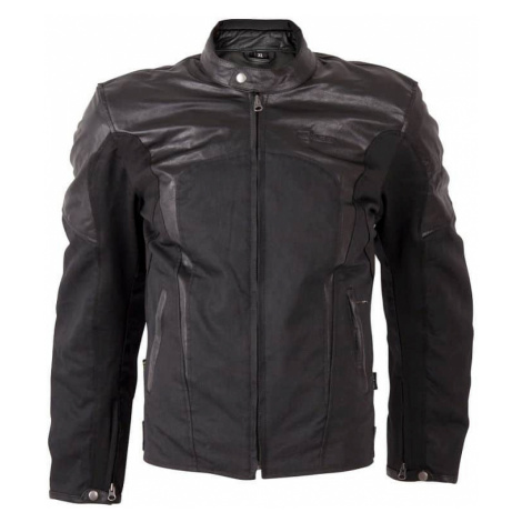 Pánska moto bunda W-TEC Taggy New Farba matne čierna