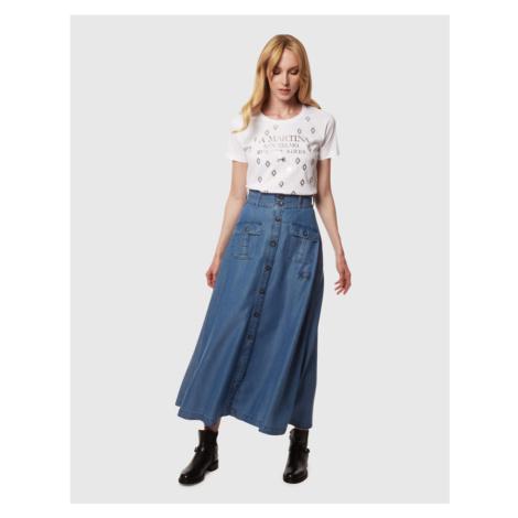 Sukňa La Martina Woman Long Skirt Light Tencel