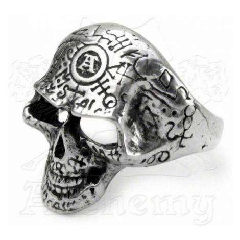 prsteň Omega Skull ALCHEMY GOTHIC - R122
