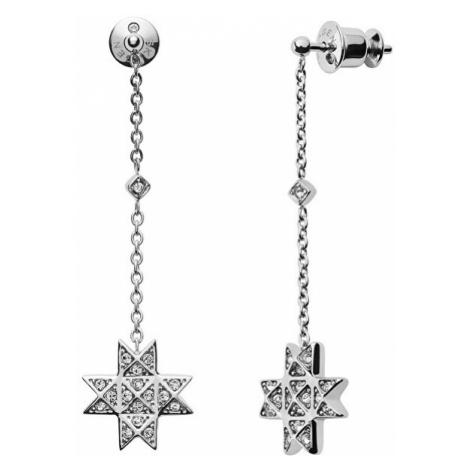 Skagen Oceľové náušnice s kryštálom hviezdy SKJ1260040