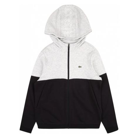 LACOSTE Tepláková bunda  sivá / čierna