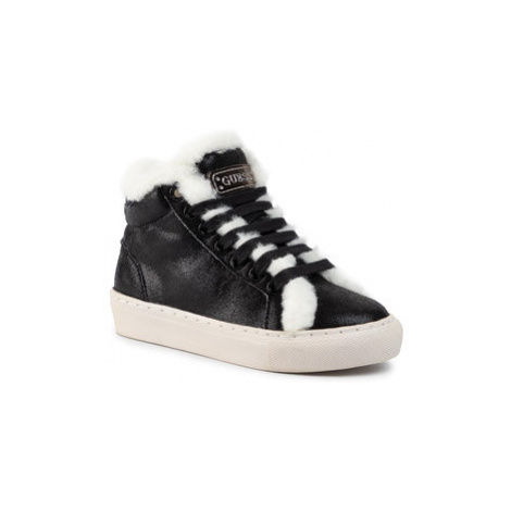 Guess Sneakersy Furry FI8FUR ELE12 Čierna