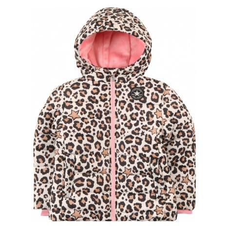 CONVERSE Zimná bunda  béžová / čierna / staroružová