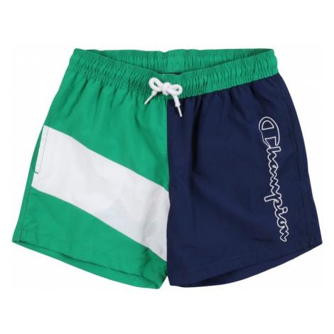 Champion Authentic Athletic Apparel Plavecké šortky  zelená / biela / námornícka modrá