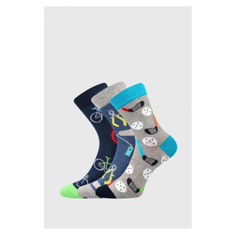 3 PACK chlapčenských ponožiek Freetime farebná Boma