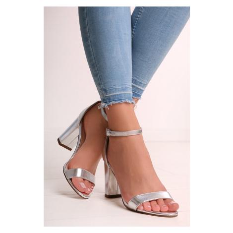 Strieborné sandále Blithe Ideal