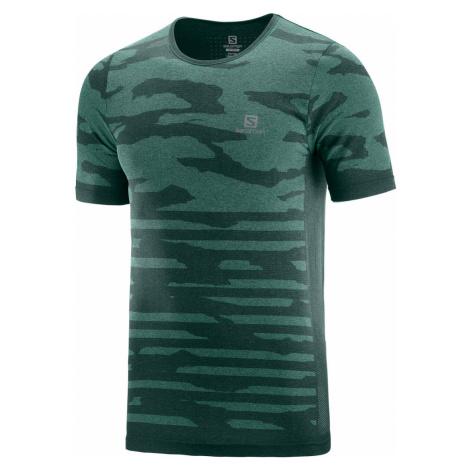 Pánske tričko Salomon XA Camo zelené