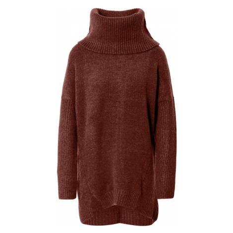 ABOUT YOU Oversize sveter 'Franka'  hrdzavohnedá / červená