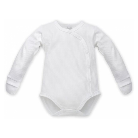 Pinokio Kids's Buttoned Longsleeve Bodysuit With Mittens