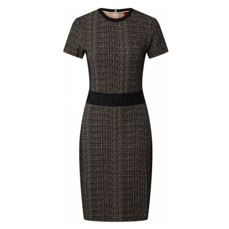 HUGO Puzdrové šaty 'Narite'  tmavomodrá / béžová Hugo Boss