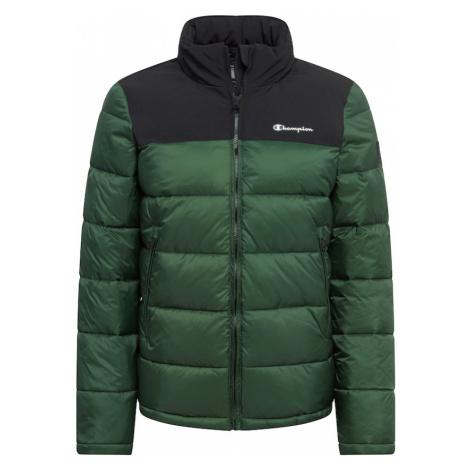 Champion Authentic Athletic Apparel Prechodná bunda  smaragdová / čierna