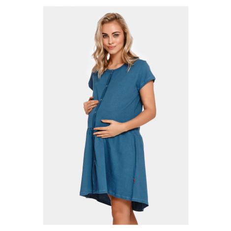 Materská dojčiaca košieľka Tasca Blue tmavomodrá