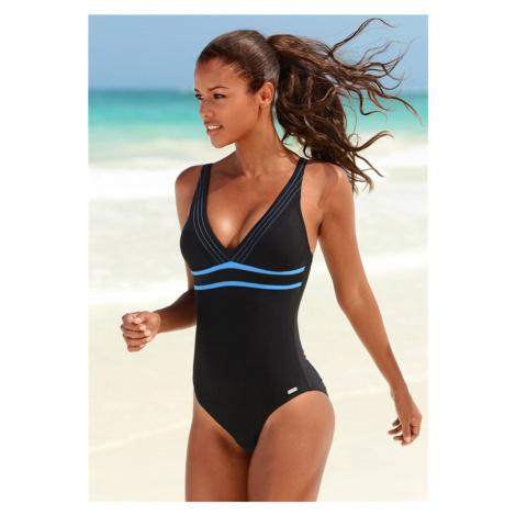 VENICE BEACH Jednodielne plavky  modrá / čierna