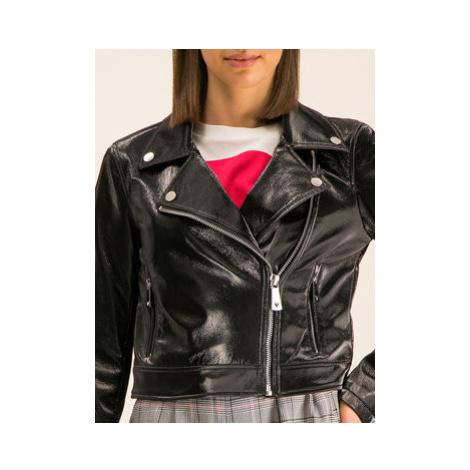 Guess Kožená bunda Agnes W01L78 WCKC0 Čierna Slim Fit